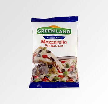 Green Land Shredded Mozzarella Cheese 325 Gr.