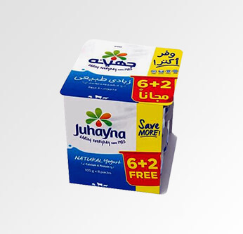 8 Juhayna Plain Yogurt 105 Gr.