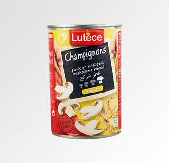 Lutece Champignons Mushrooms Sliced 400 Gr.