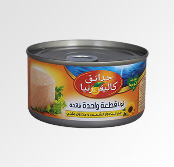 California Solid Tuna with Sunflower Oil 185 Gr.
