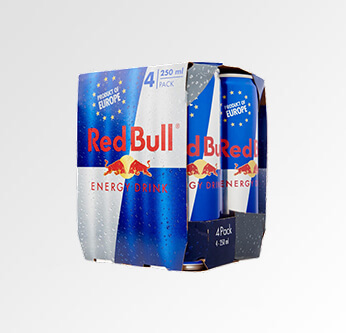 4 Red Bull Energy Drink 250 Ml.