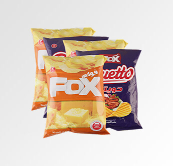 5 Fox or Duetto or Double Potato Chips Assorted Types (46-51) Gr.