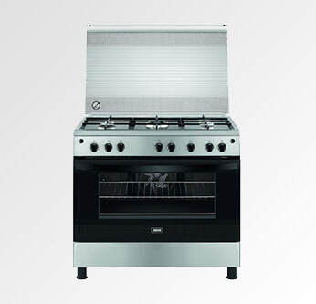 Zanussi Gas Cooker Stainless Steel 5 Flames 60*90 Cm. (ZCG922A6XA)