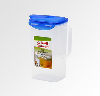 Zahran Top Lock Square Jug 2 L.
