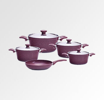 Trueval Top Chef Granite Mixed Cookware Set 9 Pcs.