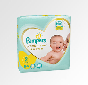 Pampers Premium Care Baby Diapers Size (2) 94 Pcs.