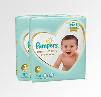 Pampers Premium Care Diapers Size (3 - 4) 94 Pcs.