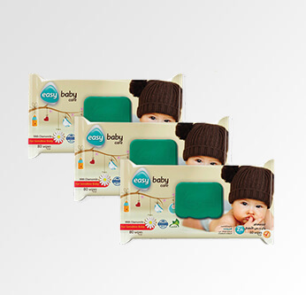 3 Easy Care Baby Wipes For Sensitive Skin 80 Pcs.