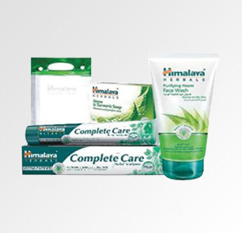 Himalaya Protective Group (Face Wash + Toothbrush Complete Care + Nm Protecting Soap + Makeup Bag)